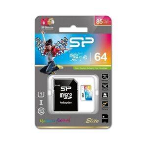 SP MEMORIJSKA KARTICA MicroSDXC Elite/Adapter 64GB CL10