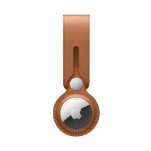 Apple AirTag Leather Loop: Saddle Brown